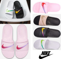 Nike BENASSI Unisex Blended Fabrics Street Style Shower Shoes