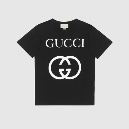 GUCCI Crew Neck Crew Neck Street Style Plain Cotton Short Sleeves 2