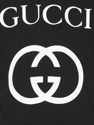 GUCCI Crew Neck Crew Neck Street Style Plain Cotton Short Sleeves 5