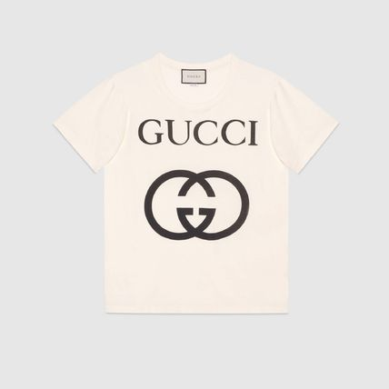 GUCCI Crew Neck Crew Neck Street Style Plain Cotton Short Sleeves 6