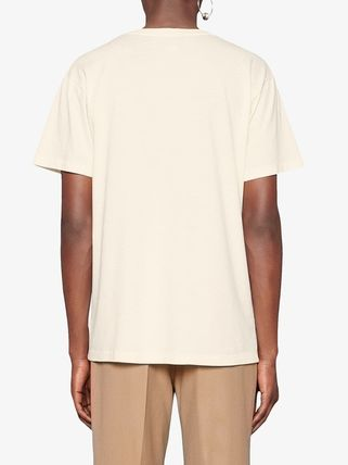 GUCCI Crew Neck Crew Neck Street Style Plain Cotton Short Sleeves 8