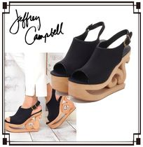 Jeffrey Campbell Open Toe Casual Style Blended Fabrics Street Style Plain