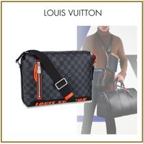 Louis Vuitton DAMIER GRAPHITE Other Check Patterns Blended Fabrics Street Style 2WAY