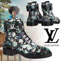 Louis Vuitton Flower Patterns Round Toe Rubber Sole Blended Fabrics