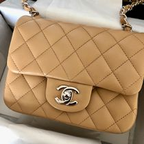 CHANEL TIMELESS CLASSICS 2WAY Plain Leather Shoulder Bags