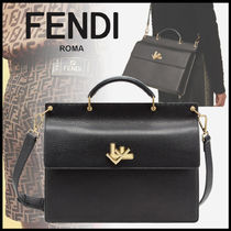 FENDI 2WAY Plain Leather Business & Briefcases