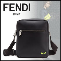 FENDI Calfskin Street Style Plain Crossbody Bag Logo