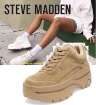 Steve Madden Rubber Sole Casual Style Street Style Plain Low-Top Sneakers