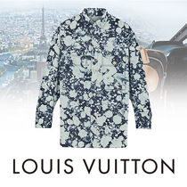 Louis Vuitton Camouflage Street Style Long Sleeves Cotton Shirts