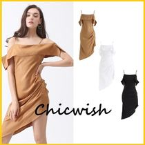 Chicwish Plain Medium Party Style Slip Dresses Dresses