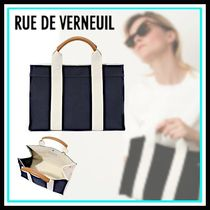 RUE DE VERNEUIL Casual Style Canvas Blended Fabrics Totes
