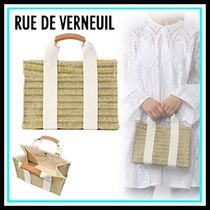 RUE DE VERNEUIL Casual Style Blended Fabrics Totes