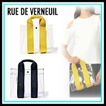 RUE DE VERNEUIL Casual Style Blended Fabrics PVC Clothing Totes