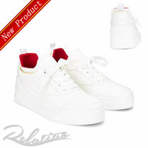 Christian Louboutin Street Style Plain Leather Sneakers