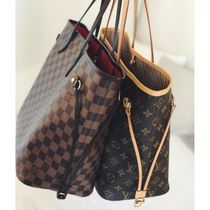 Louis Vuitton NEVERFULL Other Check Patterns Monogram Canvas Blended Fabrics A4 2WAY