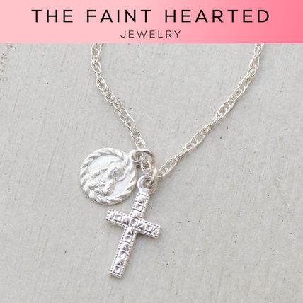 Casual Style Cross Chain Silver Necklaces & Pendants
