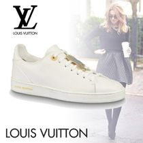Louis Vuitton Plain Toe Rubber Sole Lace-up Casual Style Street Style