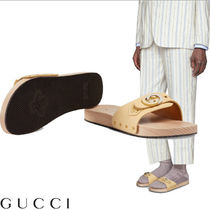GUCCI Blended Fabrics Street Style Plain Leather Shower Shoes
