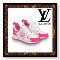 Louis Vuitton Rubber Sole Lace-up Casual Style Blended Fabrics Leather