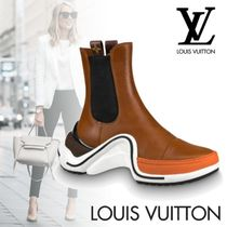 Louis Vuitton Plain Toe Rubber Sole Casual Style Street Style Plain