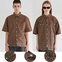 CRITIC Leopard Patterns Casual Style Unisex Street Style Cotton