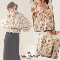 Miss Patina Flower Patterns Casual Style Long Sleeves Medium