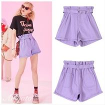 ELF SACK Short Casual Style Street Style Plain Cotton