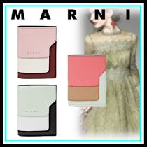 MARNI Blended Fabrics Leather Home Party Ideas Folding Wallets