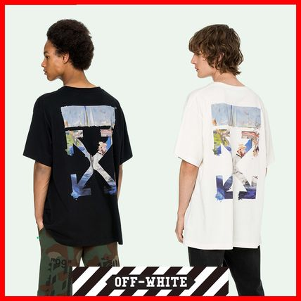 Off-White More T-Shirts Street Style Cotton Oversized T-Shirts