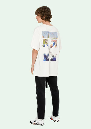 Off-White More T-Shirts Street Style Cotton Oversized T-Shirts 2