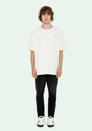 Off-White More T-Shirts Street Style Cotton Oversized T-Shirts 3