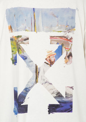 Off-White More T-Shirts Street Style Cotton Oversized T-Shirts 6