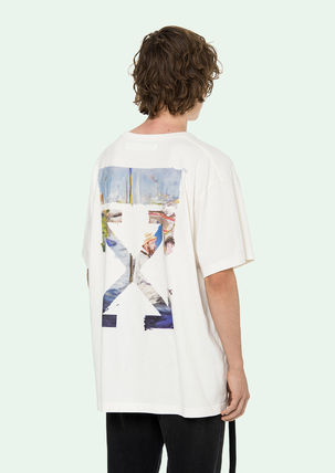 Off-White More T-Shirts Street Style Cotton Oversized T-Shirts 9