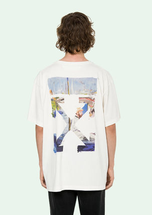Off-White More T-Shirts Street Style Cotton Oversized T-Shirts 10