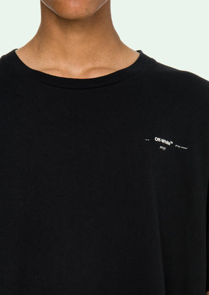 Off-White More T-Shirts Street Style Cotton Oversized T-Shirts 13