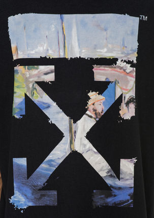 Off-White More T-Shirts Street Style Cotton Oversized T-Shirts 14