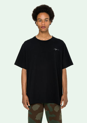 Off-White More T-Shirts Street Style Cotton Oversized T-Shirts 15