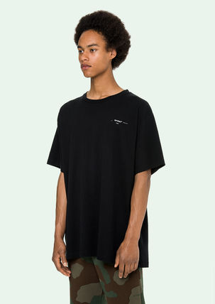 Off-White More T-Shirts Street Style Cotton Oversized T-Shirts 16