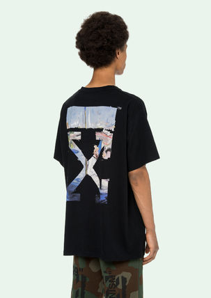 Off-White More T-Shirts Street Style Cotton Oversized T-Shirts 17