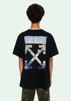 Off-White More T-Shirts Street Style Cotton Oversized T-Shirts 18