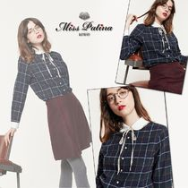 Miss Patina Other Check Patterns Casual Style Long Sleeves Cotton Medium