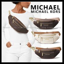 Michael Kors Monogram Casual Style Chain Hip Packs