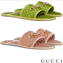 GUCCI Blended Fabrics Street Style Plain Shower Shoes