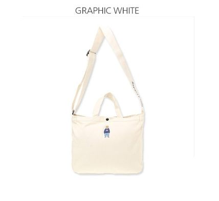 Casual Style Unisex Canvas Street Style 2WAY Plain Logo Bags