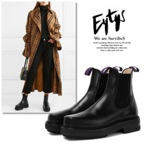 Eytys Unisex Plain Leather Boots Boots