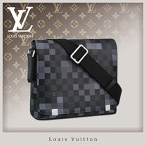 Louis Vuitton DAMIER GRAPHITE Gingham Canvas 2WAY Messenger & Shoulder Bags