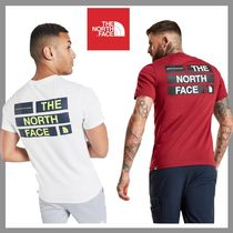 THE NORTH FACE Crew Neck Unisex Street Style Cotton Short Sleeves