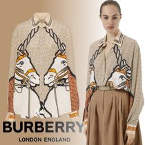 Burberry Monogram Silk Long Sleeves Other Animal Patterns