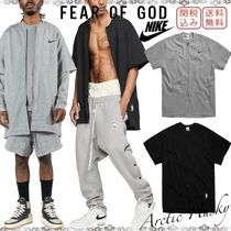 FEAR OF GOD Crew Neck Unisex Street Style Collaboration Plain Cotton