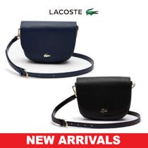 LACOSTE Casual Style Calfskin 2WAY Plain Shoulder Bags
